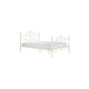 Photo of Rochelle Double Bedstead, Cream Bedding