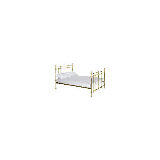 Alnwick King Bedstead, Antique Brass finish
