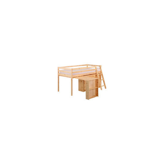 Pine Mid Sleeper and Office, Natural Laquered