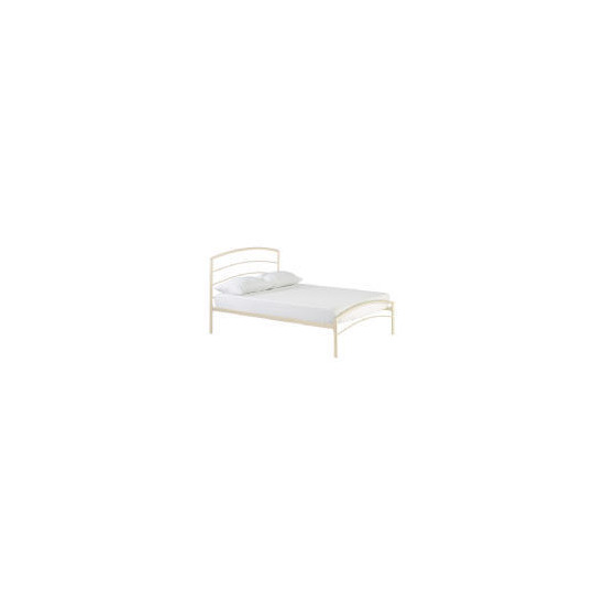 Santiago Metal King Bedstead, Cream