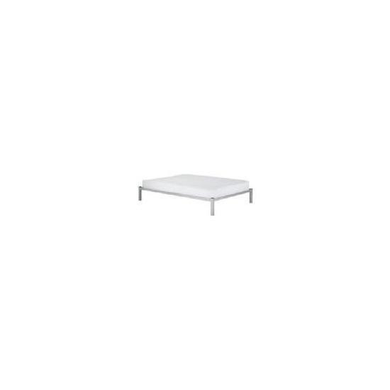 Dakota Double Bedstead, Silver effect