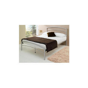 Photo of Santiago Metal Double Bedstead, Silver Furniture