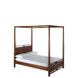 Bento Double 4 Poster bedstead, Walnut finish Reviews