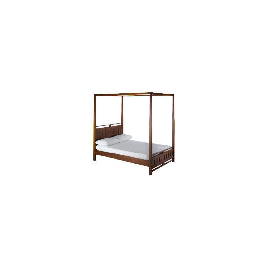 Bento Double 4 Poster bedstead, Walnut finish