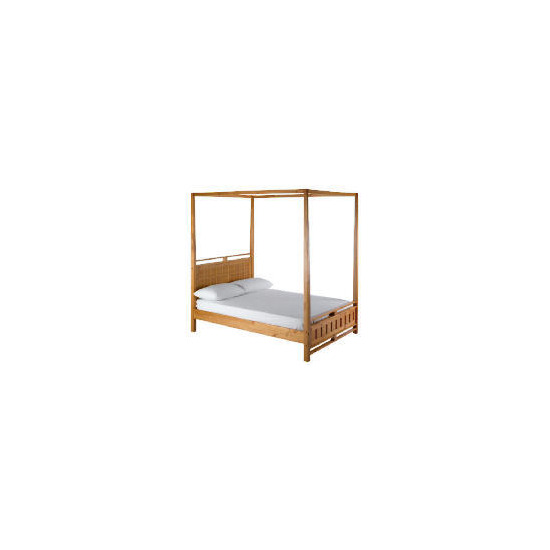 Bento Double 4 Poster bedstead, Natural