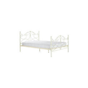 Photo of Rochelle King Bedstead, Cream Bedding