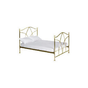 Photo of Modena King Bedstead, Antique Brass Finish Bedding