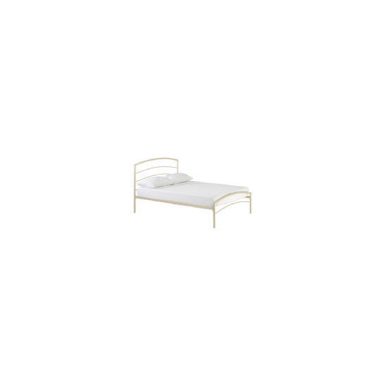 Santiago Metal Double Bedstead, Cream