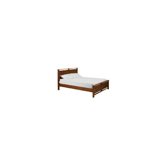 Bento King Bedstead, Walnut finish