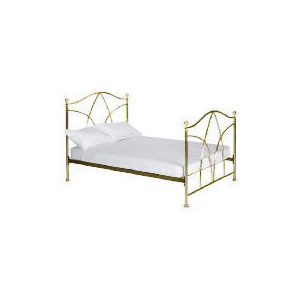 Photo of Modena Double Bedstead, Antique Brass Finish Bedding