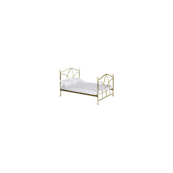 Modena Double Bedstead, Antique Brass finish