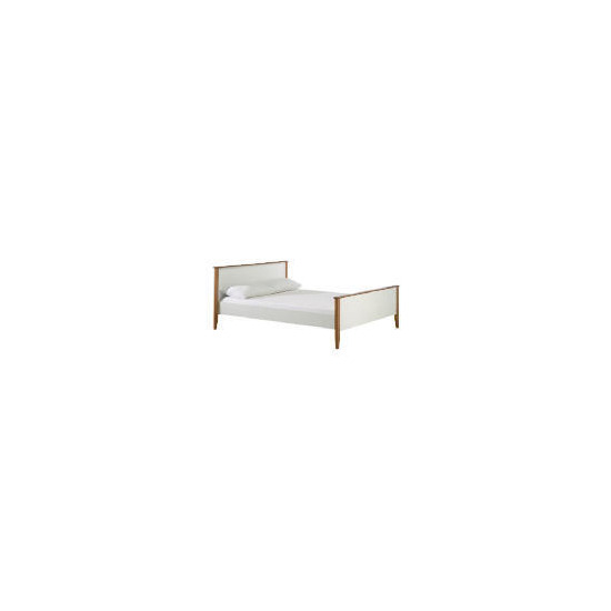 Apsley King White Bedstead, White and Pine