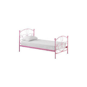 Photo of Mallia Metal Single Bedstead, Pink Furniture