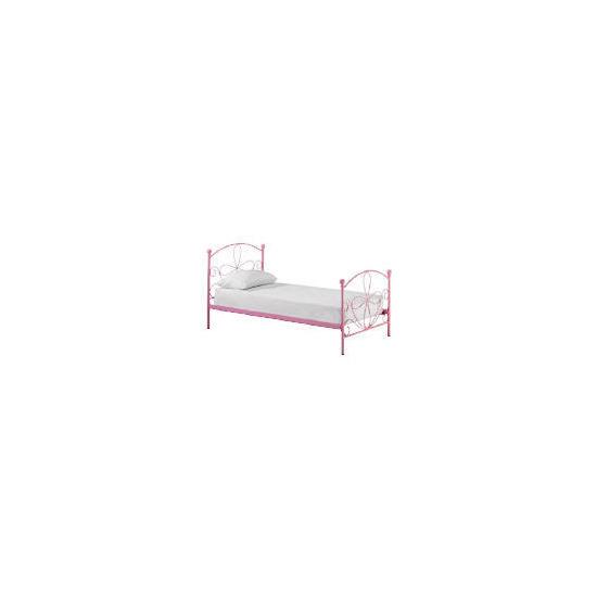 Mallia Metal Single Bedstead, Pink