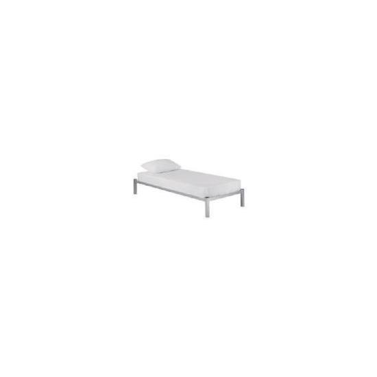Dakota Single Bedstead, Silver effect