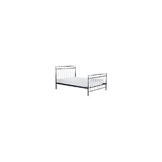 Flint Double Bedstead, Gunmetal Grey