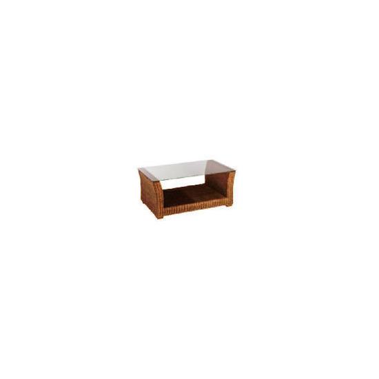 Guyana light rattan Coffee table with Glass top