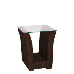 Guyana dark rattan Side table with Glass top Reviews