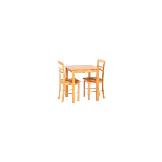 Manila 2 seat dining table and 2 chairs