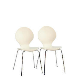 Bistro Pair of stacking chairs, White Reviews