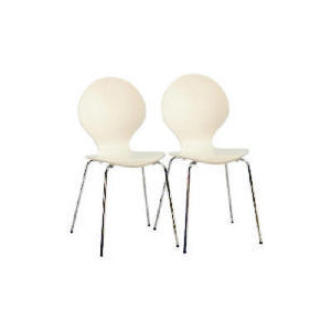 Photo of Bistro Pair Of Stacking Chairs, White Furniture