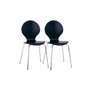 Photo of Bistro Pair Of Stacking Chairs, Black Furniture