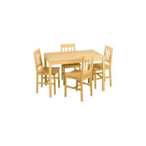 Photo of Pine Large Table and 4 Chairs Furniture