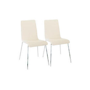 Photo of Milano Pair Of Leather Chairs, Cream Furniture