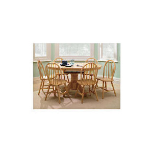 Photo of Whitton Extending Pedestal Table, Natural Furniture