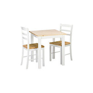 Photo of Manila 2 Seat Dining Table & Chairs, White Furniture