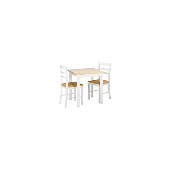 Manila 2 Seat Dining Table & Chairs, White
