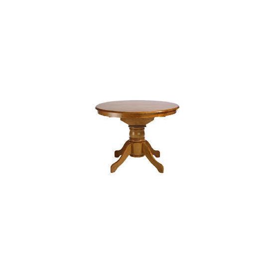 Whitton Extending Pedestal Table, Antique Finish