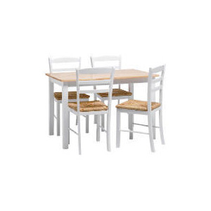 Photo of Manila 4 Seat Dining Table and Chairs, White Furniture