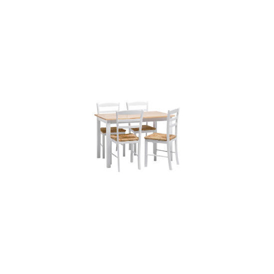 Manila 4 Seat Dining Table And Chairs, White