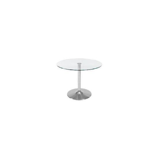 Novara Dining Table, Clear Glass