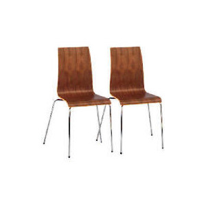 Photo of Padova Pair Of Plywood Stacking Chairs, Walnut Veneer Furniture