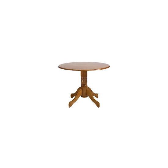 Whitton Pedestal Table, Antique Finish