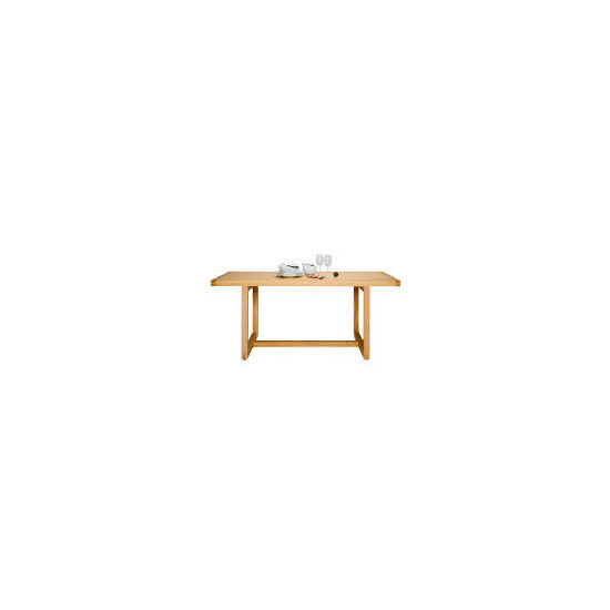 Finest Retiro Dining Table, Oak Finish
