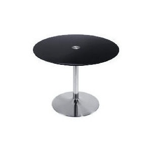 Photo of Novara Dining Table, Black Glass Furniture