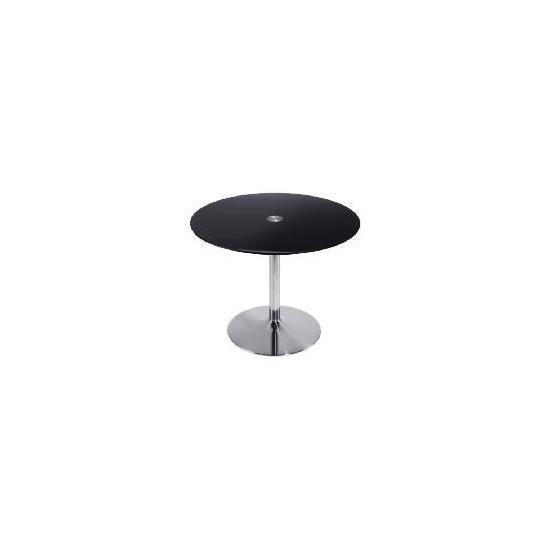 Novara Dining Table, Black glass