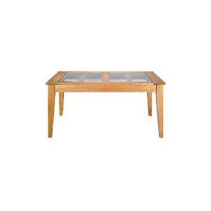 Photo of Lavenham Oak & Glass Dining Table Furniture