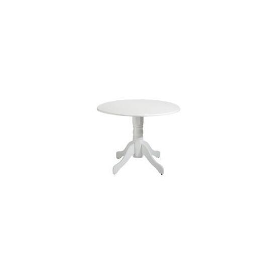 Whitton Pedestal Table, White Finish