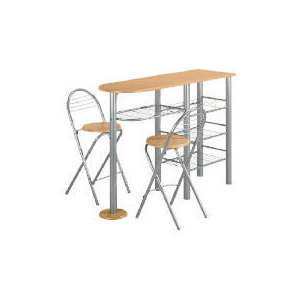 Photo of Eden Breafast Bar & 2 Stools, Wood Effect Furniture