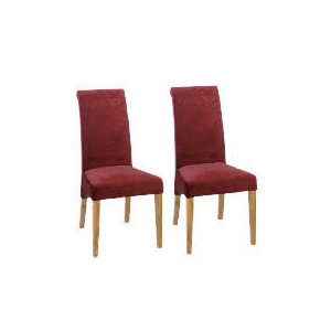 Photo of Florence Pair Of Chairs, Oak & Burgundy Furniture