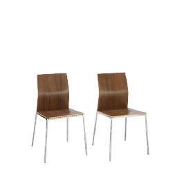 Morino Pair of Chairs, Walnut Finish Reviews