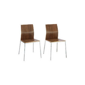 Photo of Morino Pair Of Chairs, Walnut Finish Furniture