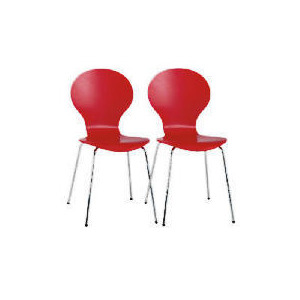 Photo of Bistro Pair Of  Chairs, Red Furniture