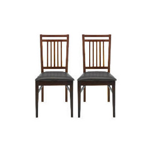 Photo of Mission Pair Of Dining Chairs, Dark Oak Furniture