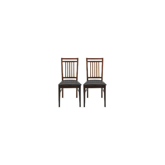 Mission Pair of Dining Chairs, Dark Oak