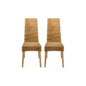 Photo of Saigon Pair Of Hayacinth Weave Chairs, Natural Finish Furniture